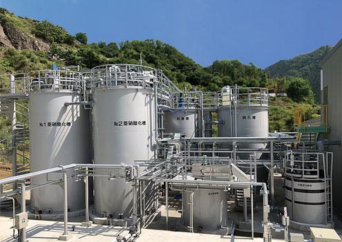 アナモックス排水処理工程