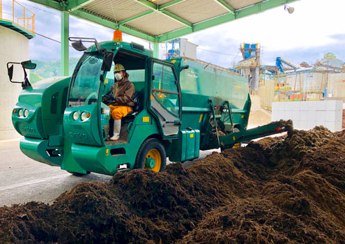 堆肥原料の排出工程
